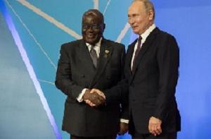 President Nana Akufo-Addo and President Vladimir Putin