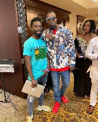 DJ Asumadu hangs out with Kwaw Kese