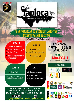 Tapioca Street Arts Festival is to promote tourism and art in Ada