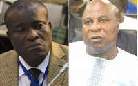 Titus-Glover, MP for Tema East (L) and Ismael Ashitey,Greater Accra Regional Minister (R)