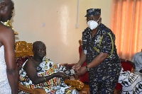 Sefwi-Wiawso Paramount Chief with the IGP James Oppong-Boanuh