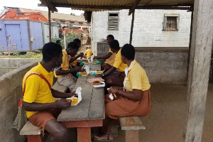 About 984 final year JHS students are benefiting from the free meal a day in the Okere District