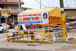 A file photo of a mobile money shop