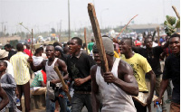 Incensed youth of Okurasi in the Upper West Akyem  District of the Eastern region