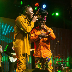 Stonebwoy and Kojo Antwi sharing his stage on the night