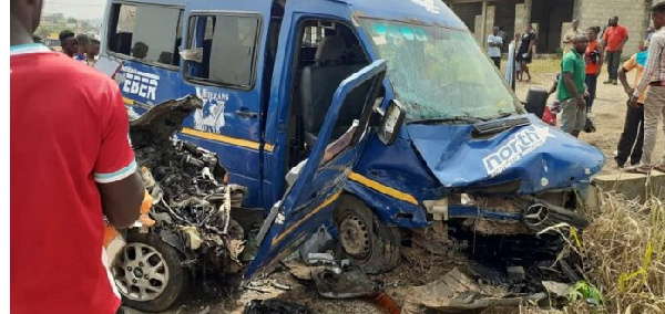 Two die in gory accident at Akuse Junction
