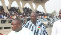 Kwabena Agyapong and Afoko at a public event