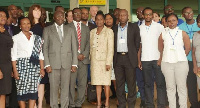 Mahamudu Bawumia (third left) in a group picture with some dignitaries at the event