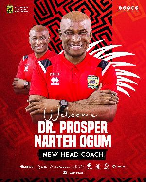 Dr. Prosper Narteh Ogum is Kotoko's new Head Coach