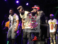 Samini and Shatta Wale performing together at Saminifest
