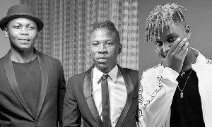 Anloga Junction: The duo came together to celebrate Stonebwoy on the release of his new album