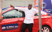 Mawunyo Atoklo, winner of the first of six brand new cars