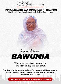 Hajia Mariama Bawumia was the mother of Dr. Mahamudu Bawumia