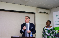 Canadian High Commissioner Christopher Thornley & CEO of MBC Africa Anna Samake