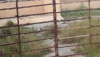 The fenced wall facility was padlocked by Nene Ankra Kitcher Labia-Vl