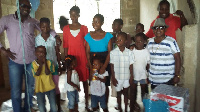 Wayoosi with the children at the Orphanage