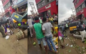 The exercise is to prevent an earlier incident where a Kia truck ran into a horde of market women