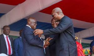 President Nana Addo Dankwa Akufo-Addo with John Mahama