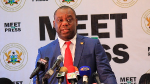 Education Minister, Dr. Matthew Opoku Prempeh addressing the press