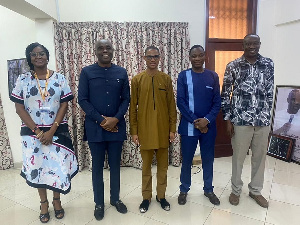 Francis-Xavier Sosu paid a working visit to UPSA Vice Chancellor, Prof. Abednego Okoe Amartey
