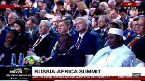 President Nana Addo Dankwa Akufo-Addo (seated at the immediate left in the front row)