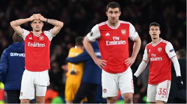 Last-gasp Olympiakos end Arsenal's EL hopes