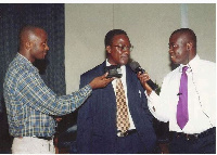 A younger Mahama interviewed by Yaw Ampofo in the 1990's