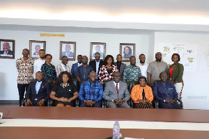 GIFEC officials in a group photo with a delegation from the Gambian