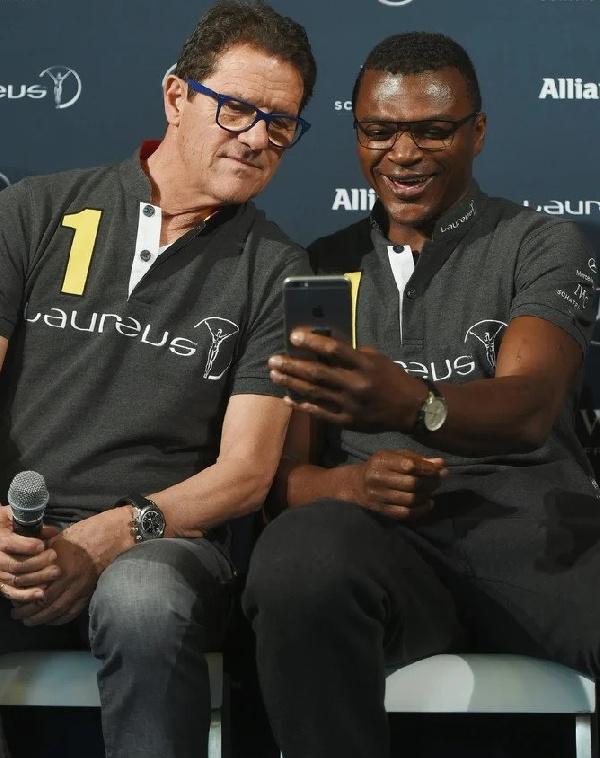 Fabio Capello and Marcel Desailly