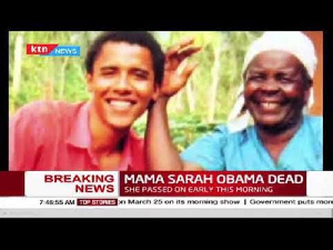 Obama with his granny during a visit to Kenya years ago
