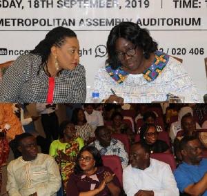 Mrs Joana Adzoa Opare spoke to the press in Accra