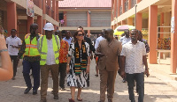 Ambassador of France to Ghana, Anne-Sophie Ave with KMA Boss Osei Assibey Antwi