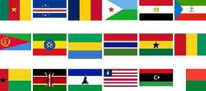 Flags of some African countries