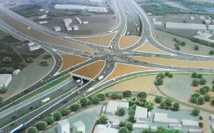 A model of the Tema Motorway Interchange