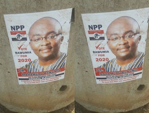 Posters of Dr. Bawumia announcing his intentions have popped up in the Northern Region