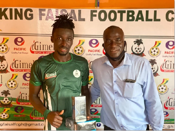2020/21 GPL: King Faisal defender Pius Baffour wins Man of the Match Award in 1-0 win over Inter Allies