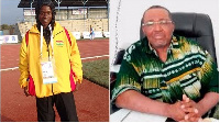 Former chairman of the Ghana Athletics Association George Lutterodt and Martha Bissah