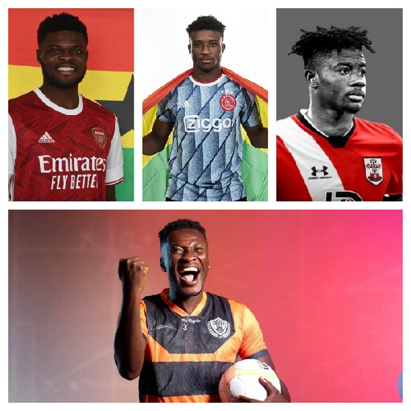 Thomas Partey, Mohammed Kudus, Mohammed Salisu and striker, Asamoah Gyan