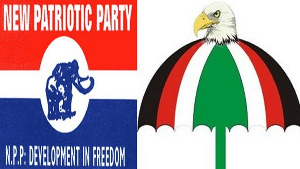 File photo: The NPP and the NDC logo