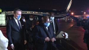 Akufo Addo arrives in Serbia aboard a chartered Boeing jet