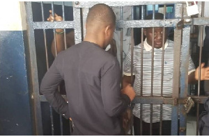 Sammy Gyamfi is at the Nima Police station to seek for bail for Michael Peprah