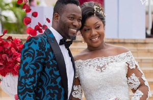 Adjetey Anang and his wife
