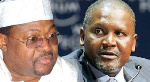 Aliko Dangote, President of the Dangote Group and Mike Adenuga, Chairman of Globacom and Conoil Plc