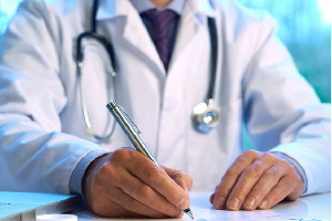 File photo of a health professional