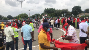 Some of the workers at KIA's premises