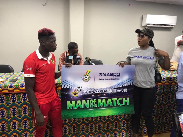 Hearts vs Kotoko clash: Justice Blay wins Man of the Match award