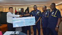 the donation is to support the Ghana Police Service combat crime in the country