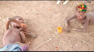 Yenkyela Mindom, 11, and Sanbir Mindom, 9, cannot walk