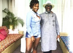 Late Ebony and father