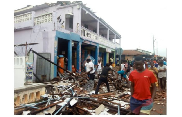NADMO records 5 casualties after violent winds hit Somanya
